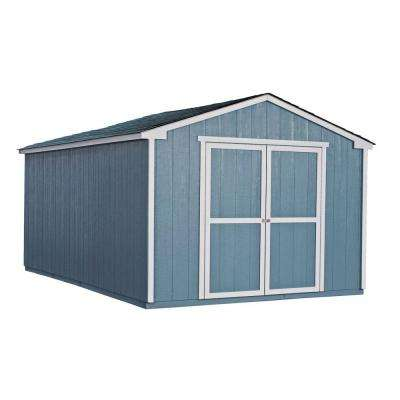 Cumberland 10 ft. x 16 ft. Wood Shed Kit with Floor Frame