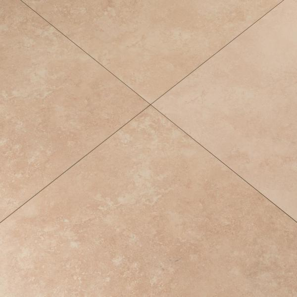 "- Wood MSI NTRA1212 Travertino 12/"" Square Floor Tile Matte Visual"