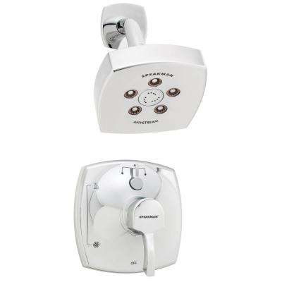 Tiber 1-Handle 3-Spray Shower Combination in Polished Chrome (Valve Included)