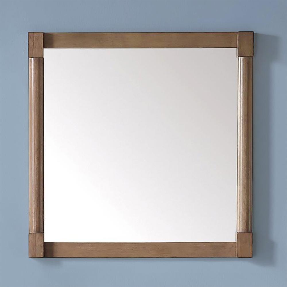 Breton 32 in. x 32 in. Framed Wall Mirror in Almond Toffee