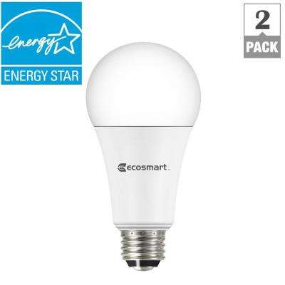 40/60/100W Equivalent Soft White A21 3-Way LED Light Bulb (2-Pack)