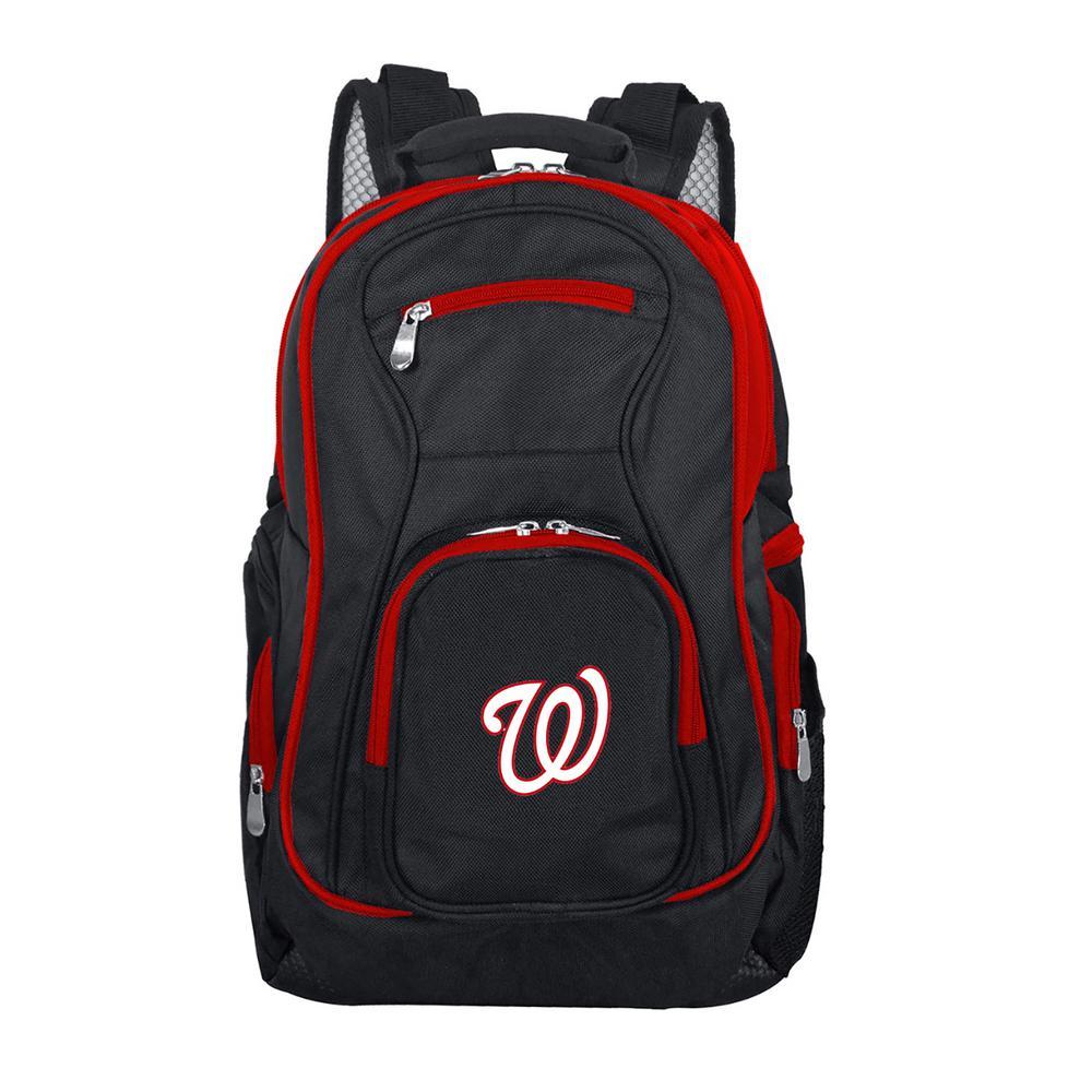 MLB Washington Nationals 19 in. Black Trim Color Laptop Backpack