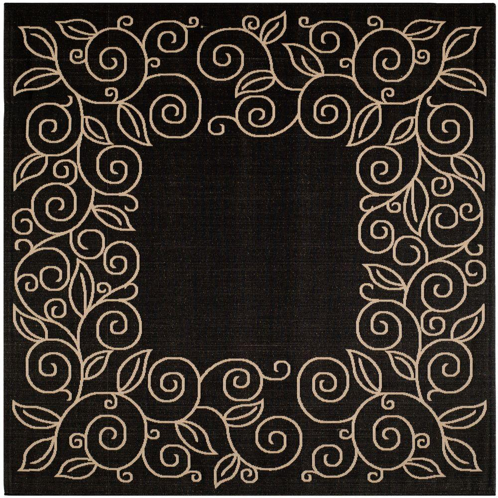 Safavieh Courtyard Black Beige 7 Ft 10 In X 7 Ft 10 In