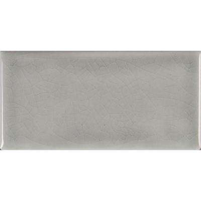 Morning Fog 3 in. x 6 in. Handcrafted Glazed Ceramic Wall Tile (1 sq. ft. / case)
