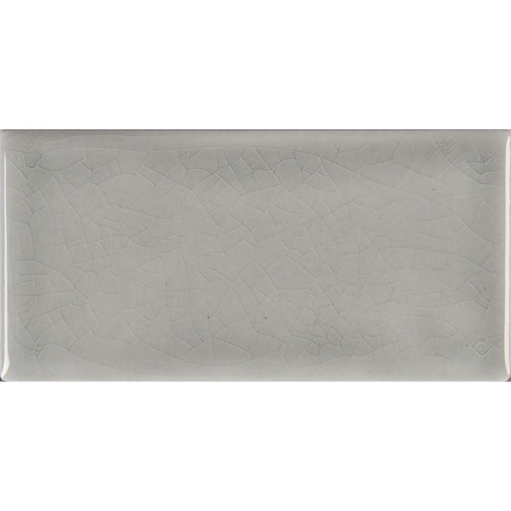 MSI Morning Fog 3 in. x 6 in. Handcrafted Glazed Ceramic Wall Tile (1 sq. ft. / case)