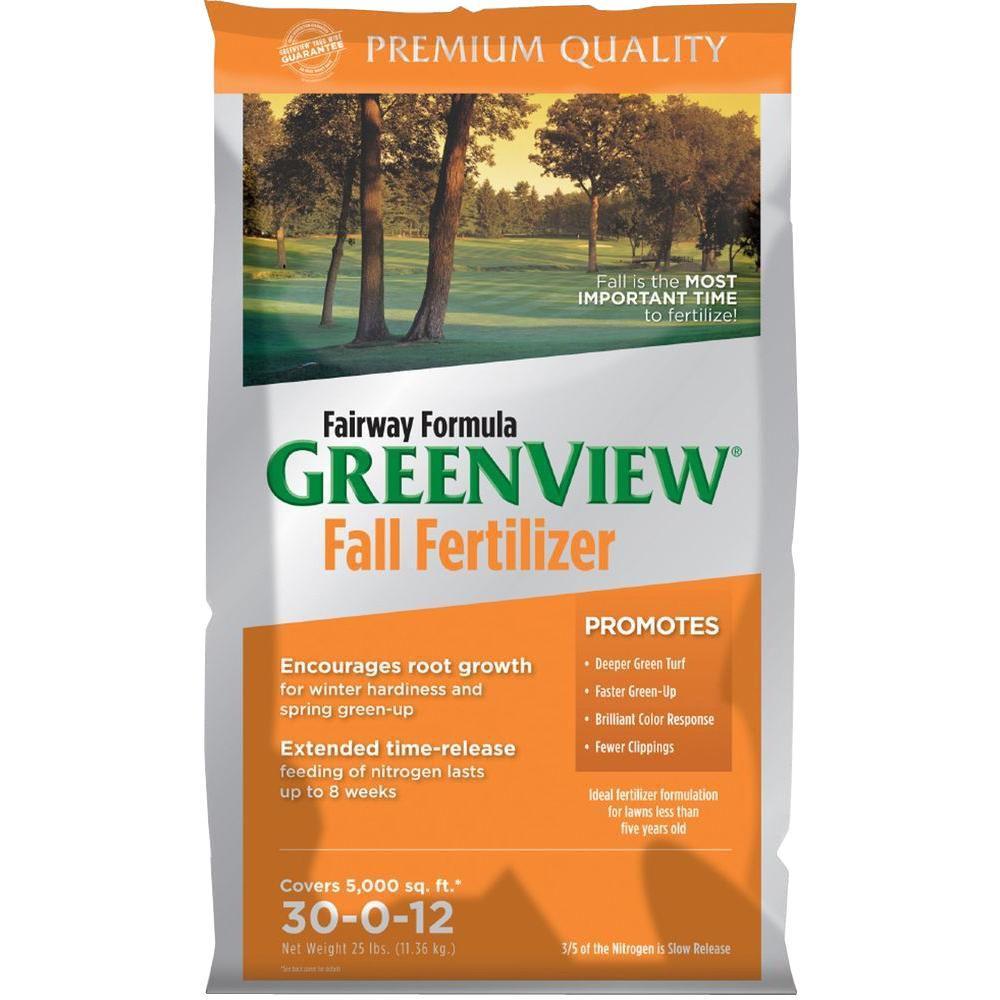 Greenview 25 lb. 5000 sq. ft. 30-0-12 Fairway Formula Fall Fertilizer by Greenview