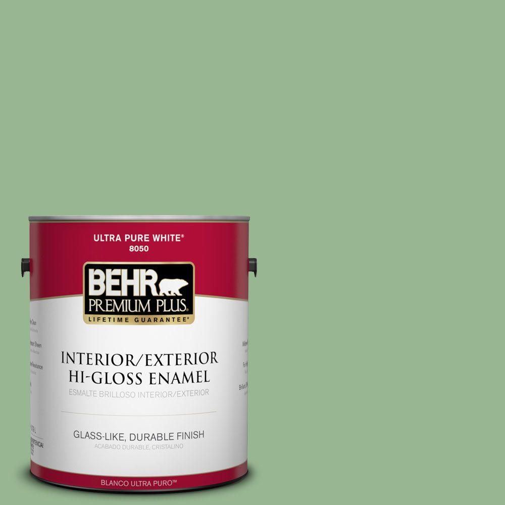BEHR Premium Plus 1-gal. #M400-4 Brookview Hi-Gloss Enamel Interior/Exterior Paint