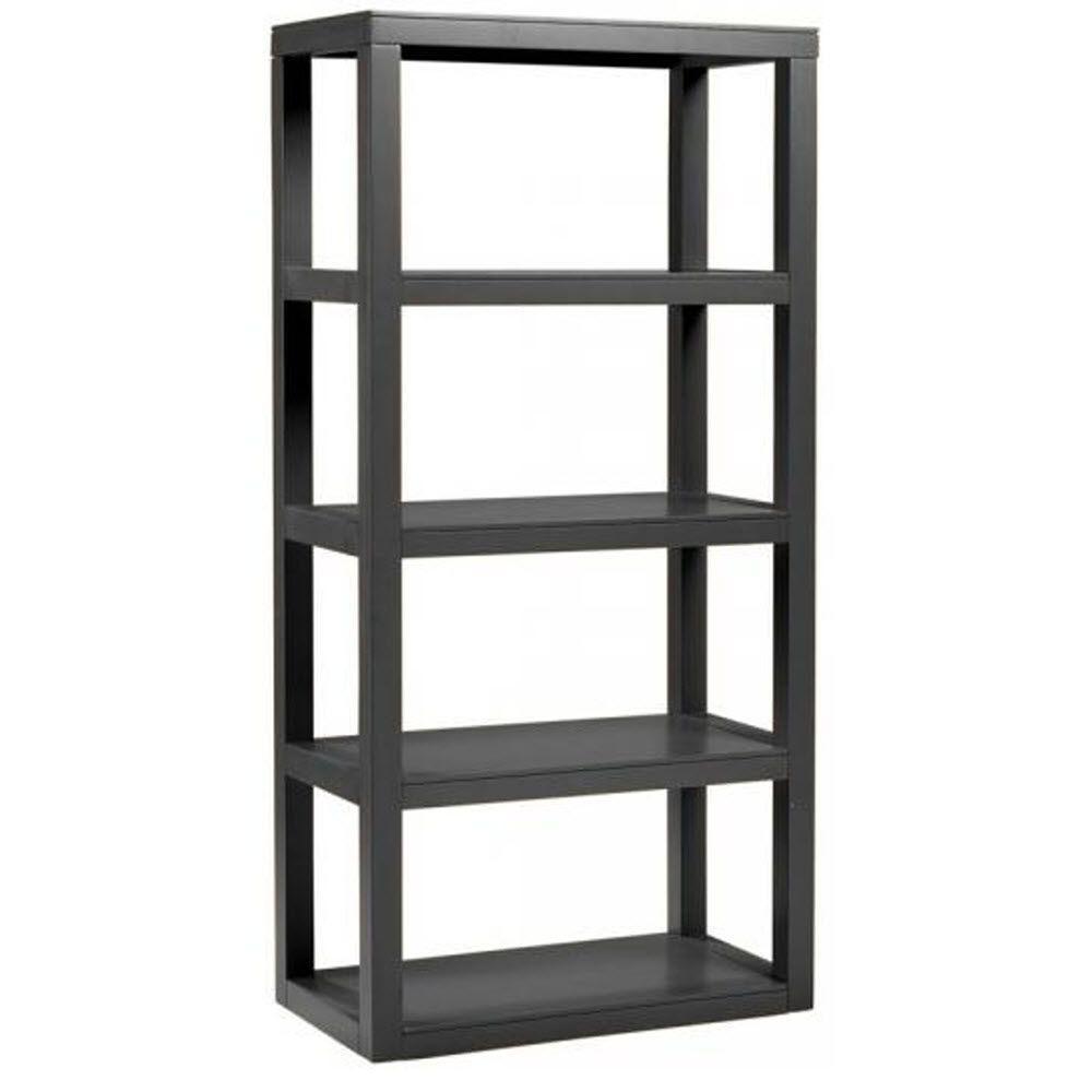 Home Decorators Collection Parsons Black Open Bookcase
