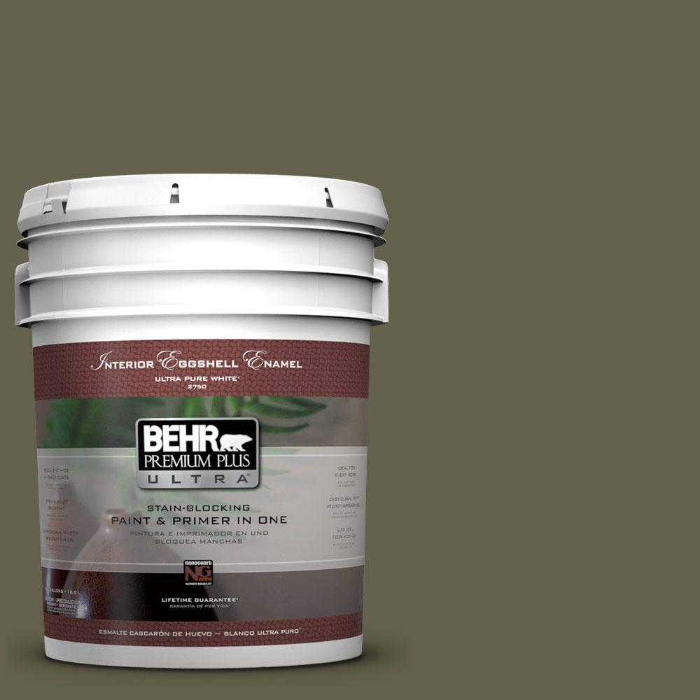BEHR Premium Plus Ultra 5-gal. #400F-7 Groundcover Eggshell Enamel Interior Paint