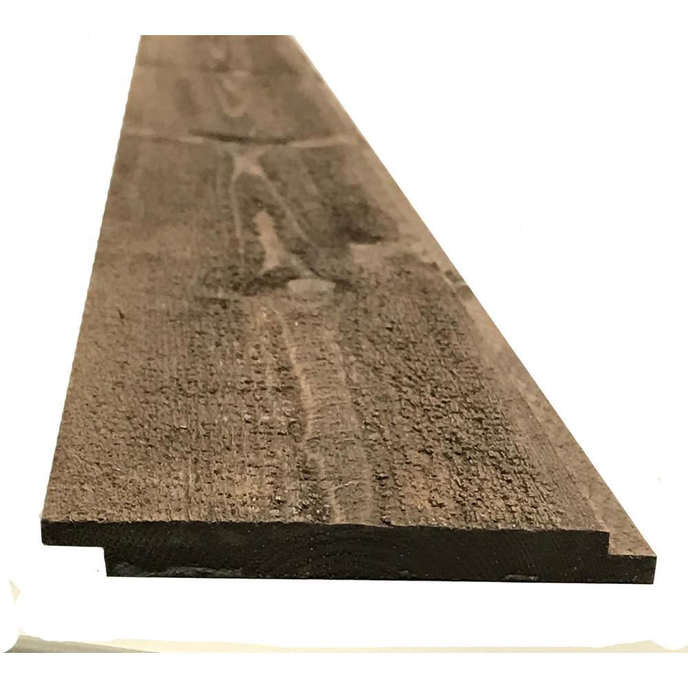 5/16 in. x 3-5/8 in. x Random Lengths Butternut Brown Vintage Shiplap Planks