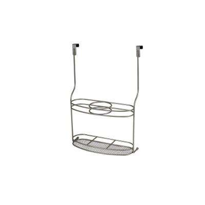 MyBella 10.625 in. W x 4.625 in. D x 14.875 in. H Over the Cabinet Styling Station in Satin Nickel Powder Coat