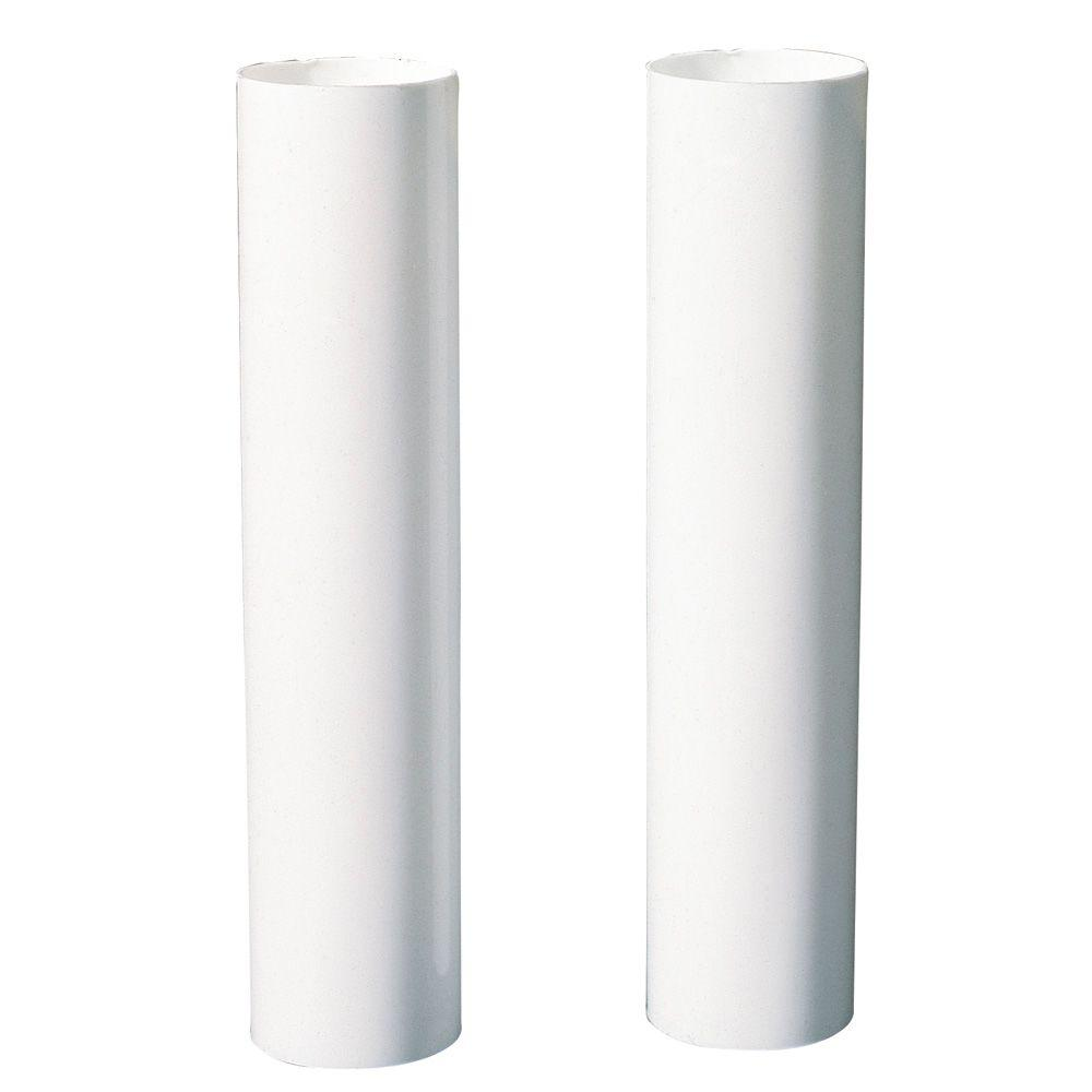 White Candelabra-Base Candle Socket Covers (2-Pack) - Westinghouse 4 In. White Candelabra-Base Candle Socket Covers (2