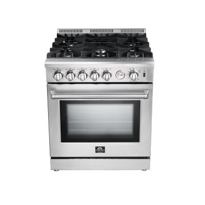 Lseo 30 in.  4.23 cu. ft. Gas Range with Fan Convection Oven in Stainless Steel