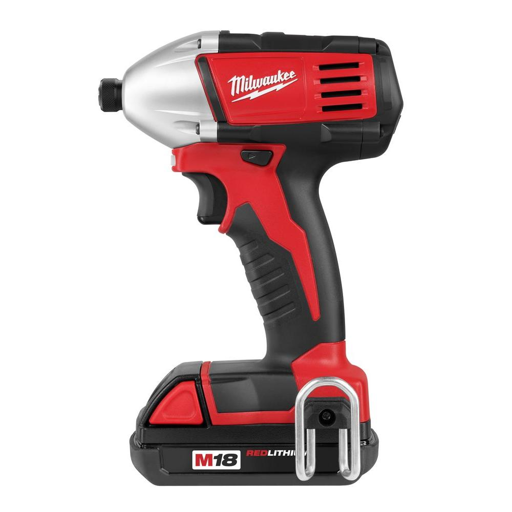 Milwaukee M18 18-Volt Lithium-Ion 1/4 in. Cordless Hex Impact Driver Kit