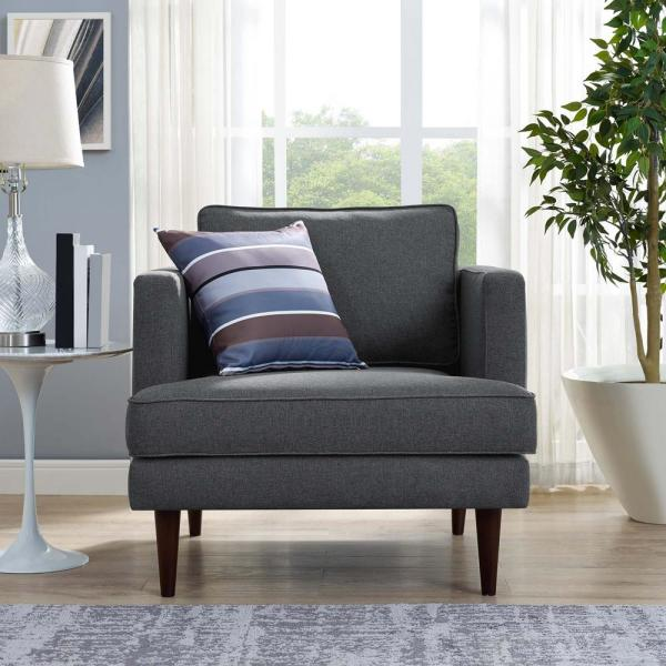 Agile Gray Upholstered Fabric Arm Chair