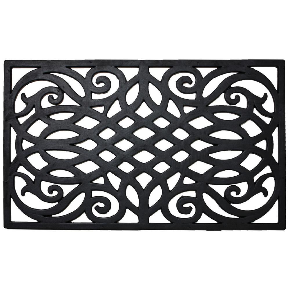 home non mat entry door slip doormat rubber super cobblestone thin print