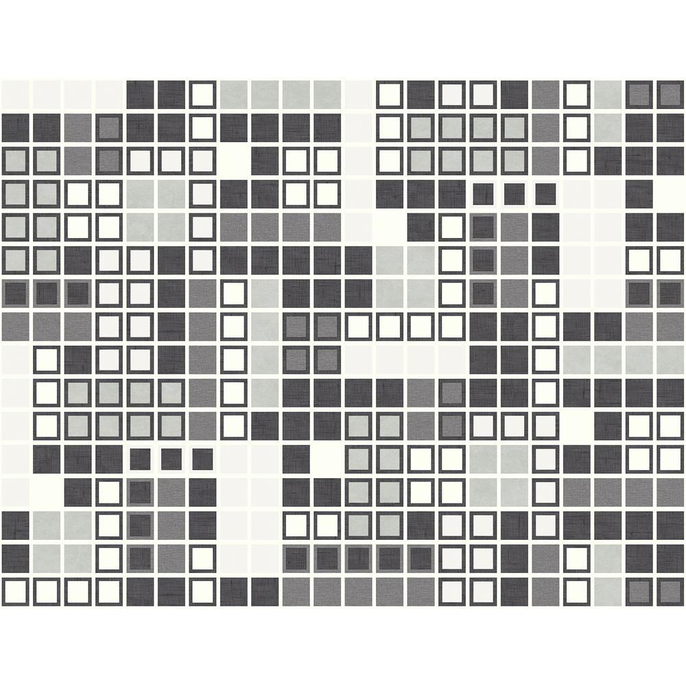 Bantry Black Geometric Black Wallpaper Sample