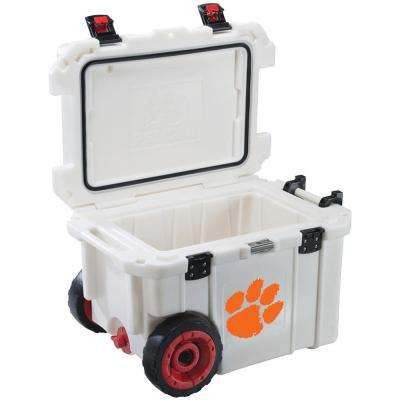 45 Qt. Clemson University Tigers Elite Wheeled Cooler