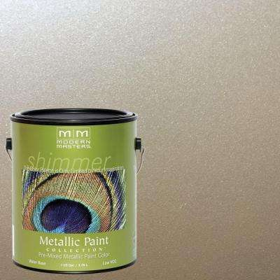 1 gal. Warm Silver Water-Based Satin Metallic Interior/Exterior Paint