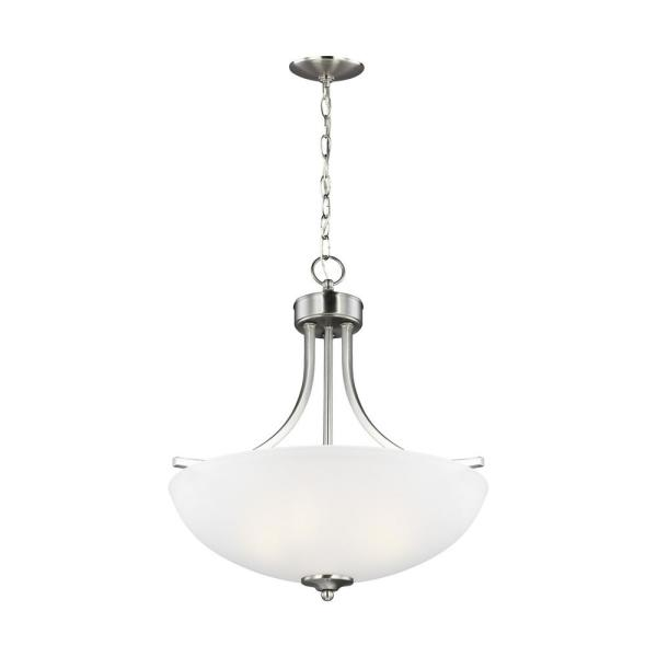 Geary 3-Light Brushed Nickel Pendant