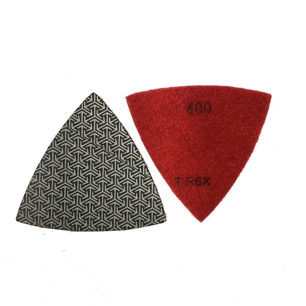 T-REX 3 in  400-Grit Triangle Shaped Diamond Polishing Pad