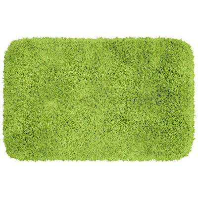 Jazz Lime Green 24 in. x 40 in. Washable Bathroom Accent Rug
