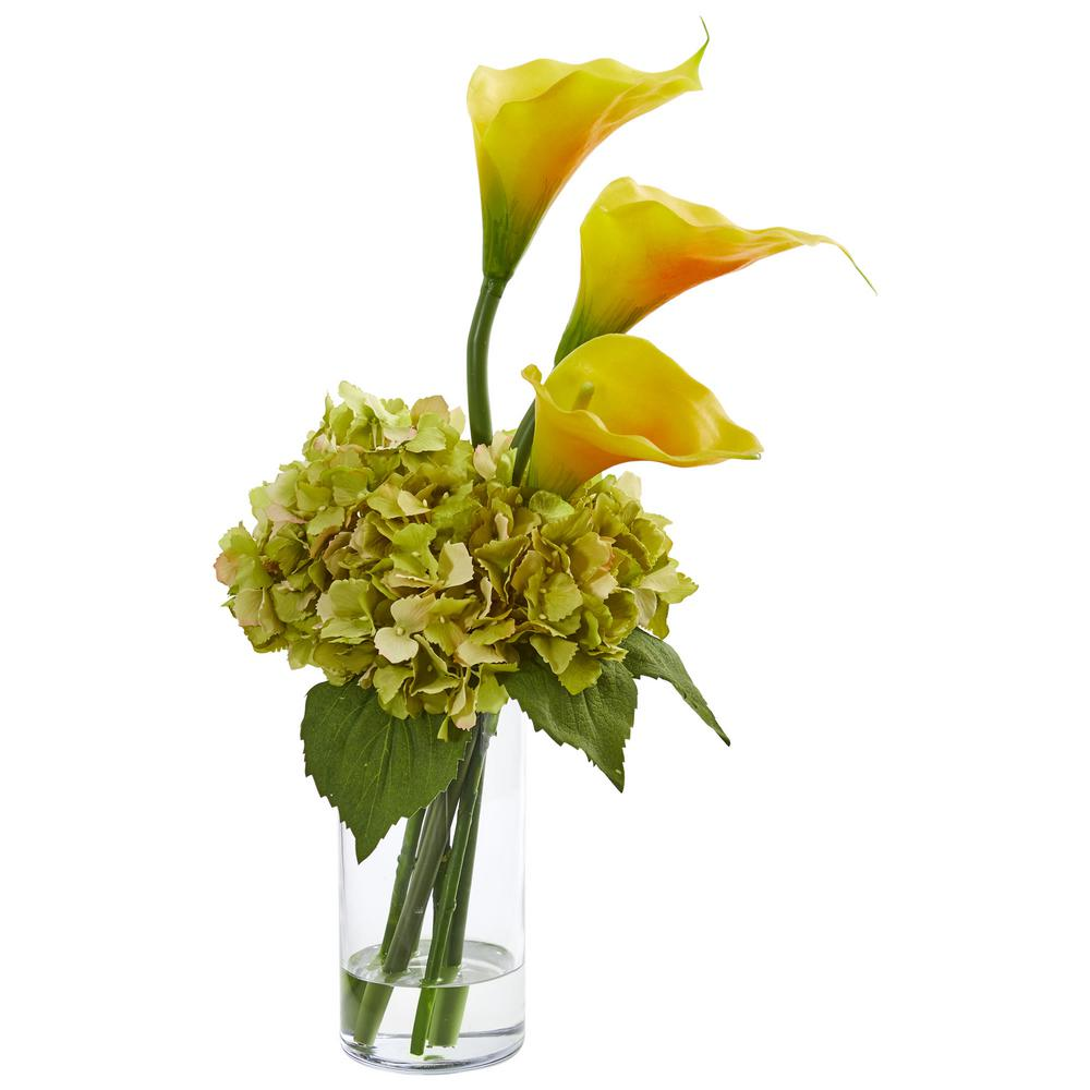 Nearly Natural Indoor Calla Lily And Hydrangea Artificial