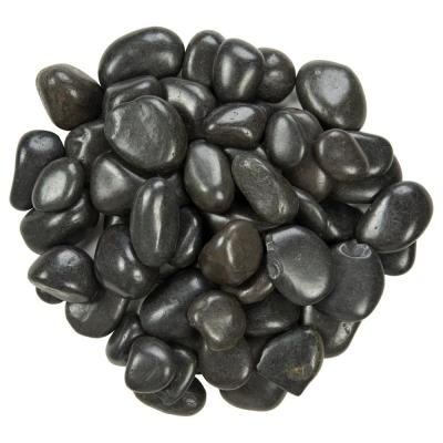 Black Polished 0.5 cu. ft . 1 to 2 in. Pebbles. 40 lb. Bag (28 Bags / Pallet)