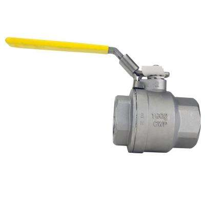 2 in. Stainless Steel FNPT x FNPT Full-Port Ball Valve With Latch Lock Lever