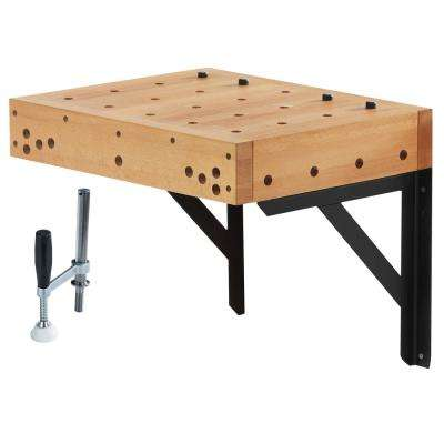 1.5 ft. Clamping Workbench Table with Holdfast
