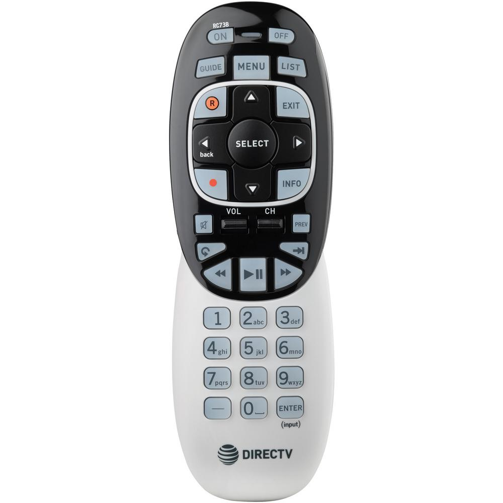 Universal Remote This DIRECTV RC73B Universal Remote can control up to 3 devices and operates as a replacement for most DIRECTV receivers. This remote includes both infrared and RF modes and features an ergonomic design for comfortable use. Buttons can be backlit for easier readability in dim lighting. The remote works with most DIRECTV receivers in IR mode and is compatible with most third-party DIRECTV receivers in IR mode. It is also compatible with Genie HR44 and above models and Genie Mini C41 and above models in RF4CE mode.