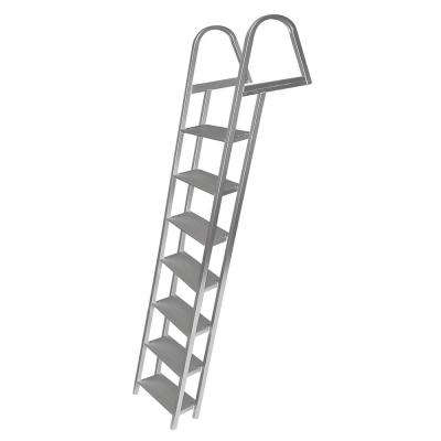 7-Step Angled Aluminum Ladder with Mounting Hardware