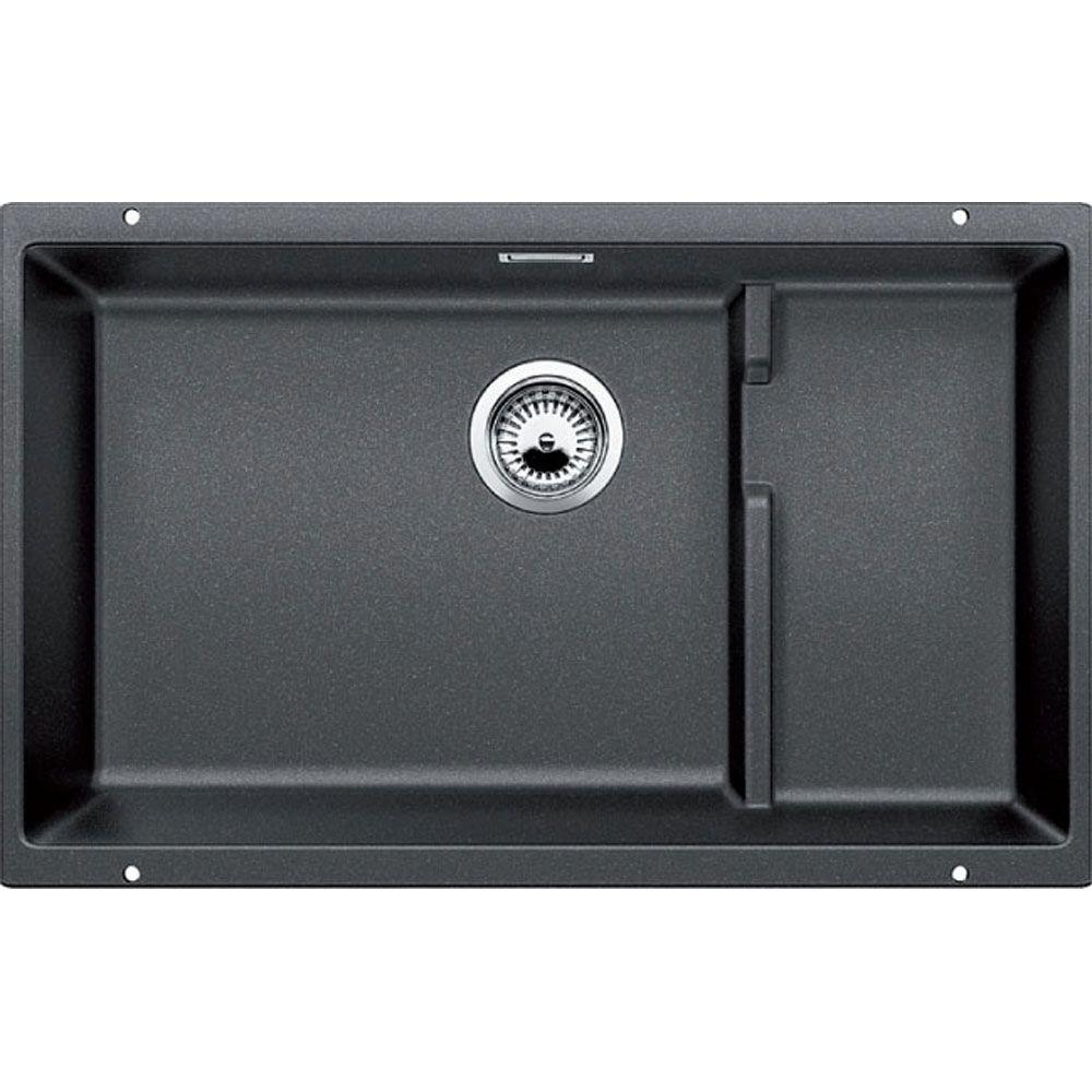 Ordinaire Blanco PRECIS Cascade Undermount Granite Composite 29 In. Single Basin  Kitchen Sink In Anthracite