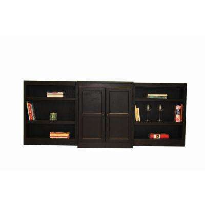 3-Piece Espresso Wall and Storage System (8-Shelves)