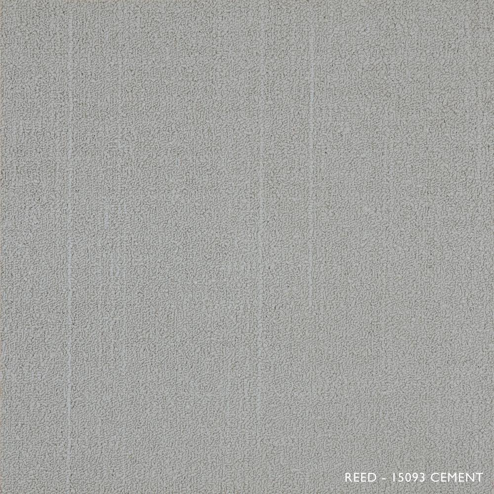 Reed Cement Loop 19.68 in. x 19.68 in. Carpet Tiles (8 Tiles/Case)