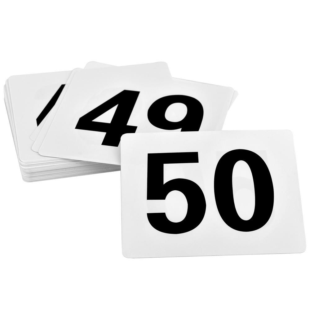 Double sided Wedding Event Party Table Number Plastic Place Cards 1-50
