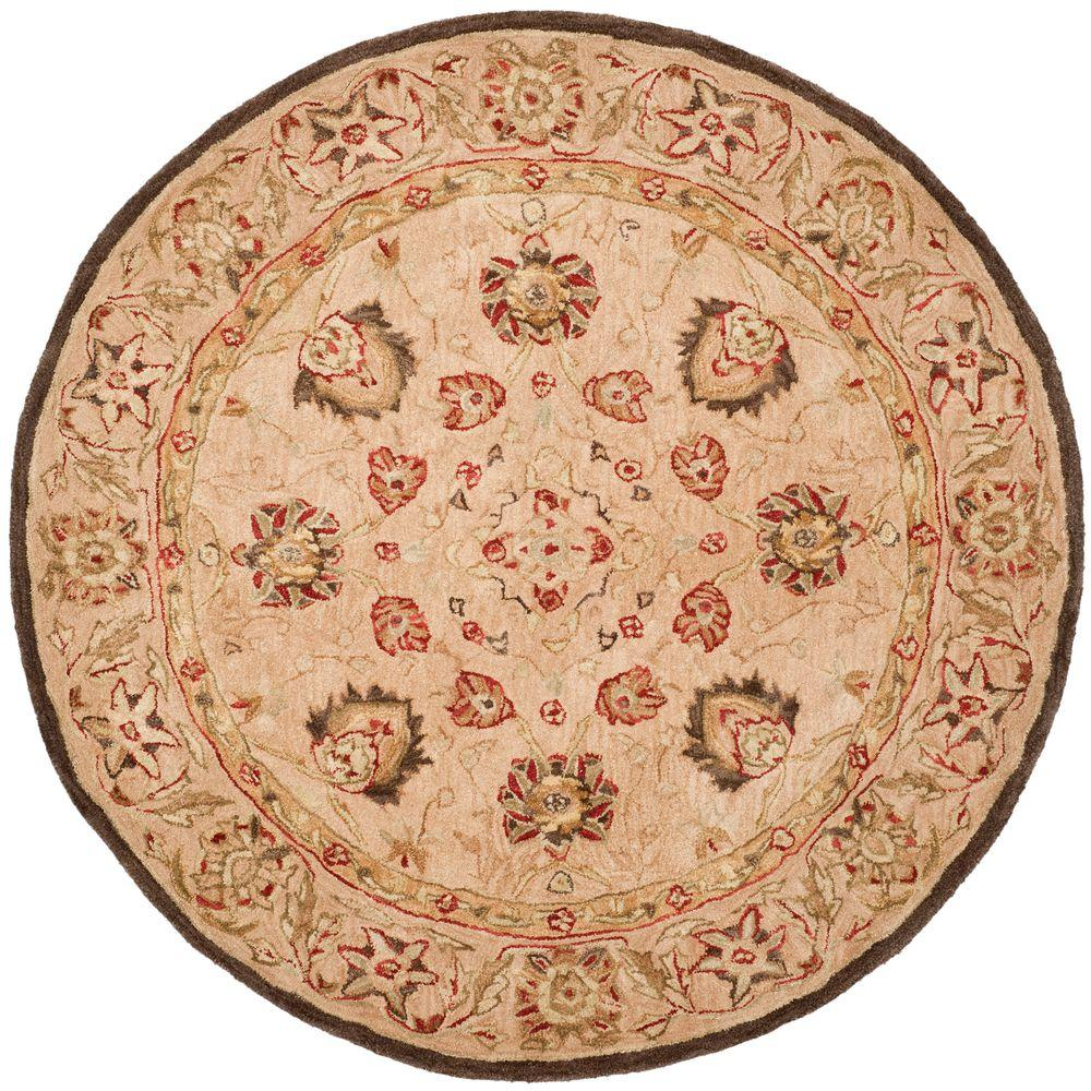 safavieh anatolia ivory beige 8 ft x 8 ft round area rug an512a 8r the home depot. Black Bedroom Furniture Sets. Home Design Ideas