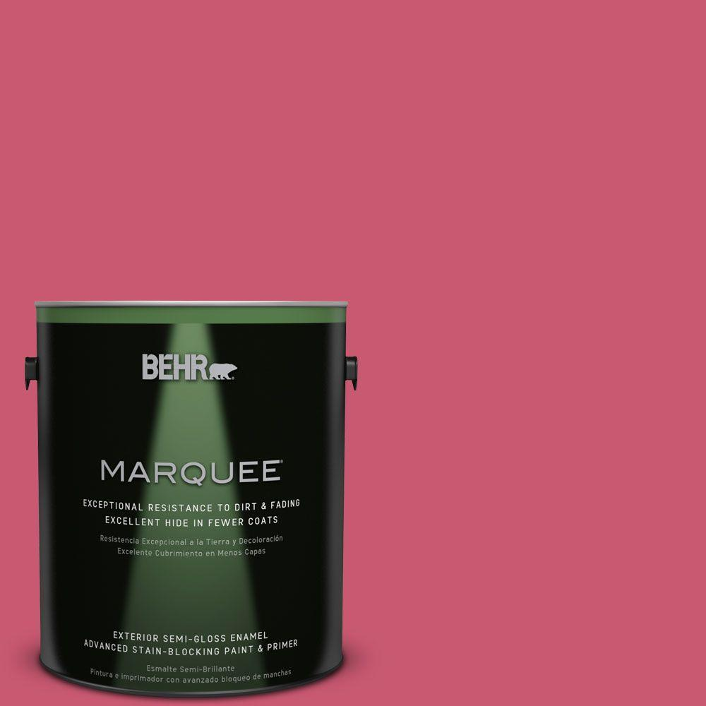 BEHR MARQUEE 1-gal. #T11-15 Pinkelicious Semi-Gloss Enamel Exterior Paint