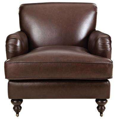 Guy Chocolate Leather Club Chair