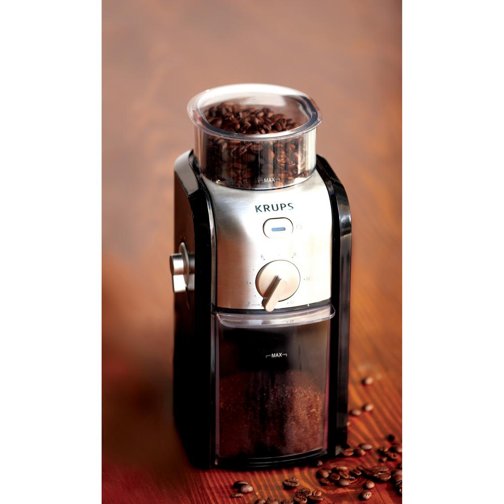 how to clean krups burr coffee grinder