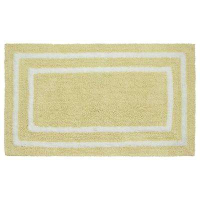 Reversible Cotton Soft Double Border Banana 21 in. x 34 in. Bath Mat