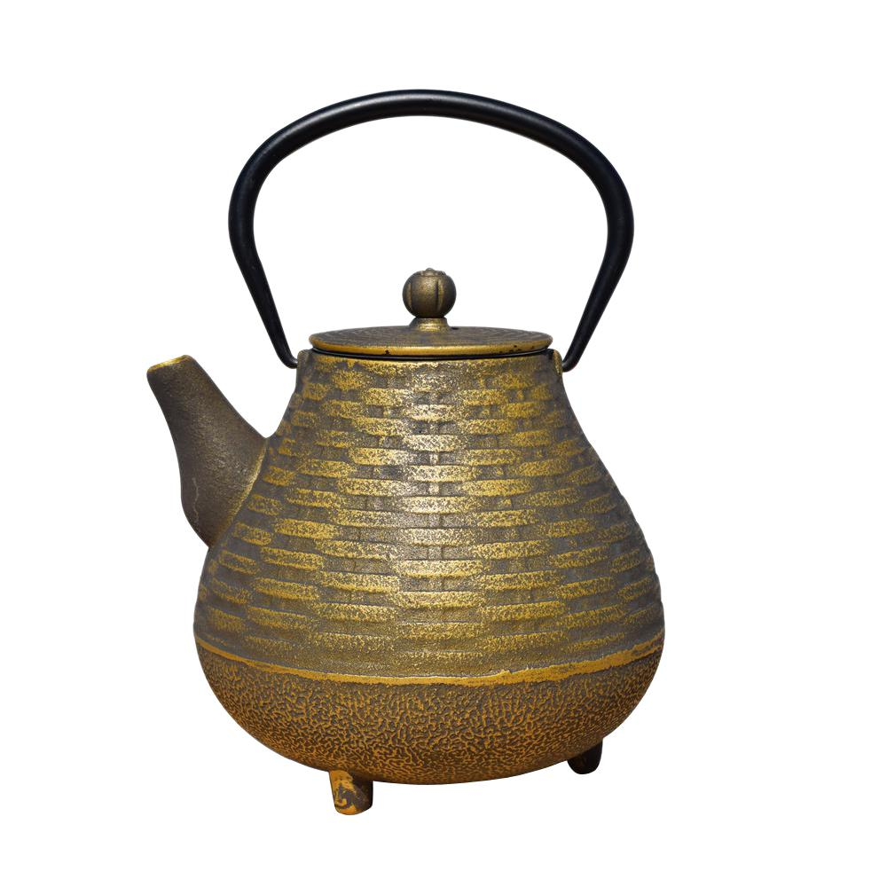 Old Dutch Orimono 5.13-Cup Teapot in Black and Gold, Blac...