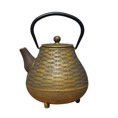 Orimono 5.13-Cup Teapot in Black and Gold