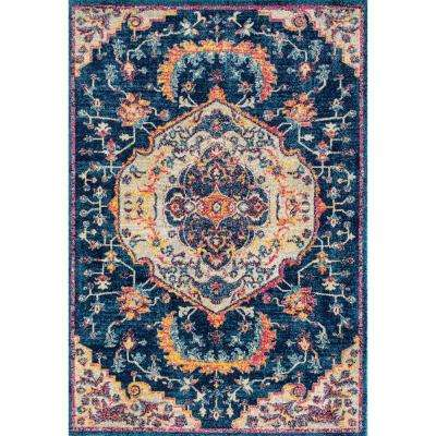 Abigail Ulani Midnight Blue 13 ft. x 15 ft. Oversize Rug