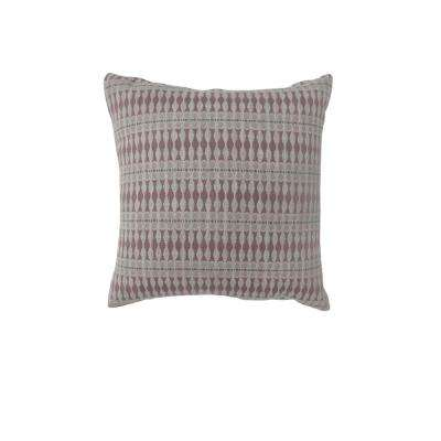 Maila 18 in. Contemporary Standard Throw Pillow in Red