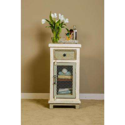 LaRose Dove Gray and Antique White Cabinet