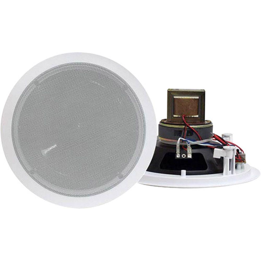 Pyle 6.5 in. 250-Watt 2-Way In-Ceiling Speaker with 70-Volt Transformer