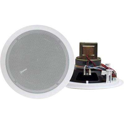 6.5 in. 250-Watt 2-Way In-Ceiling Speaker with 70-Volt Transformer