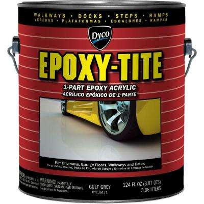 Epoxy-Tite 1 gal. 361 Gulf Grey Low Sheen 1-Part Epoxy Acrylic Exterior Paint