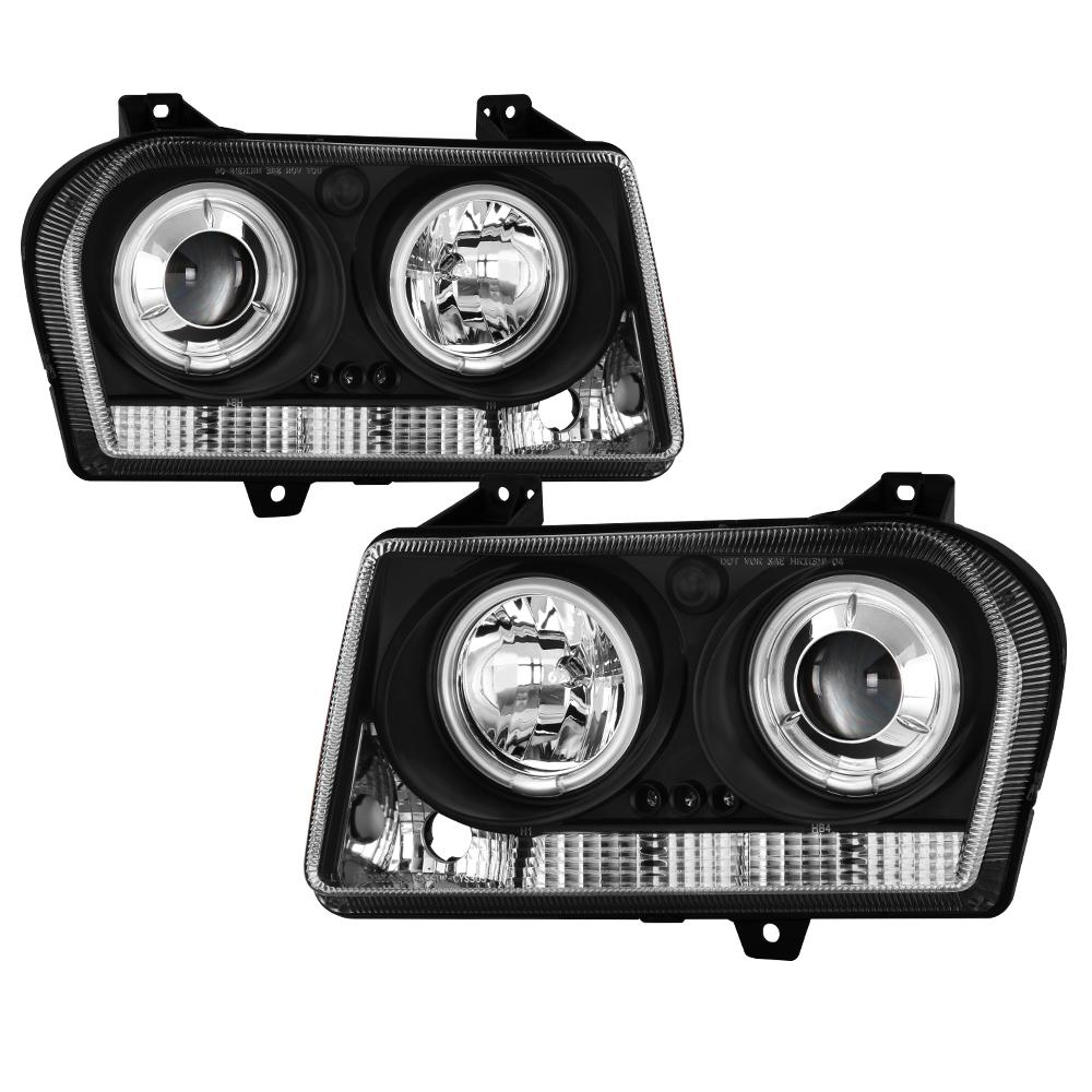 Spyder Auto Chrysler 300 05-08 Projector Headlights - CCFL Halo - LED (  Replaceable LEDs ) - Black
